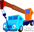 heavy equipment construction truck trucks crane cranes   transport_04_148 clip art transportation land  gif