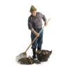man raking leafs leaf rake yard work fall   3d2045lowres photos people