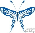 butterfly Blue Tattoo vector clip art image