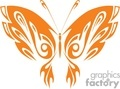 Orange butterfly with decorative wings