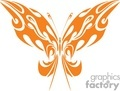butterfly tribal orange
