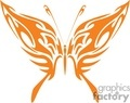 orange flaming winged butterfly