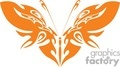 orange artistic winged butterfly silhouette