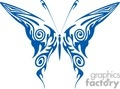 butterfly in dark blue clip art