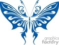 blue fun butterfly vinyl ready gif, jpg, eps