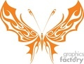 Orange Butterfly with wide wings