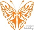 butterfly Orange vector clip art image