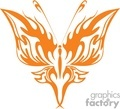 symmetrical orange tatoo butterfly gif, jpg, eps