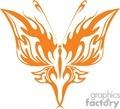 symmetrical orange tatoo butterfly
