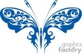 A tattoo with a butterfly in blue