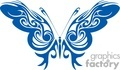 blue and white butterfly artistc wings
