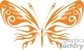 abstract orange butterfly tattoo