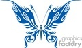 vinyle ready blue butterfly with flaming wings gif, jpg, eps