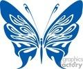 dark blue butterfly clip art