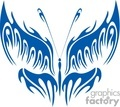 artistic butterfly in blue