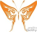 blutterfly design in bright orange