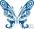 blue Tattoo butterfly