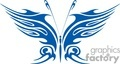 tribal blue butterfly