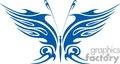 tribal blue butterfly gif, jpg, eps