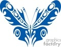 blue  butterfly circle wings tattoo