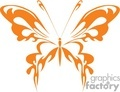 Orange butterfly vector clip art image