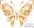 tribal butterfly thin lined wings