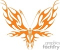 butterfly orange tribal wings
