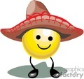 happy smiley face wearing a sombrero