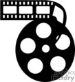 black and white film reel