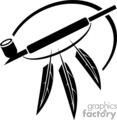black and white peace pipe