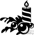 black and white striped candle with christmas decor at its side gif, png, jpg, eps