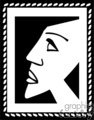 Picasso style clip art painting