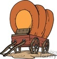 Covered pioneer wagon
