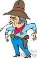 cowboy sheriff with wheat in mouth