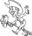 cowboy on a toy horse