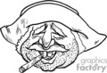 black and white mexican man smoking a cigar gif, png, jpg, eps