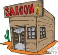 cartoon western saloon