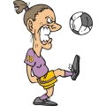 angry female soccer player