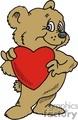 Cute teddy bear holding a big red heart