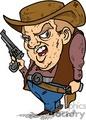 cartoon gunfighter