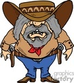 cartoon old western gunslinger