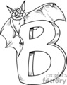 Black and white letter B