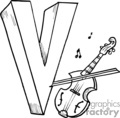 Black and white letter V