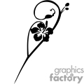 flower vector black white eps clip art clipart flowers plant plants tattoo tattoos vinyl-ready vinyl ready