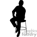 person sitting on a stool