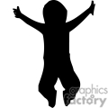 people shadow shadows silhouette silhouettes black white vinyl ready vinyl-ready cutter action vector eps png jpg gif clipart baby child jump jumping excited gif, png, jpg, eps