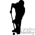 Golf player shadow