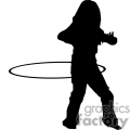 people shadow shadows silhouette silhouettes black white vinyl ready vinyl-ready cutter action vector eps png jpg gif clipart hula hoop hoops child gif, png, jpg, eps