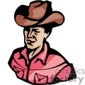 a rugged cowboy wearing a red shirt and a brown leather hat gif, png, jpg, eps