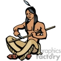 indian indians native americans western navajo carving vector eps jpg png clipart people gif gif, png, jpg, eps